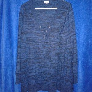 Blue/Black marled sweater